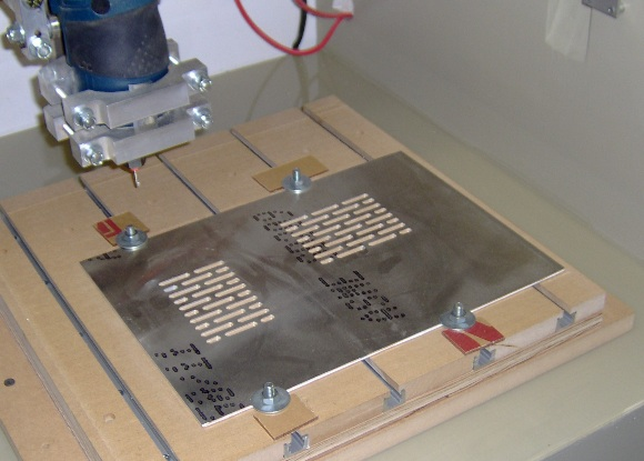 Milling the second electronics bay door
