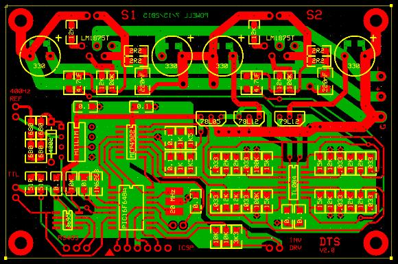 DTS V2 printed circuit board