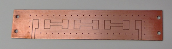 Spectrum analyzer input filter PCB