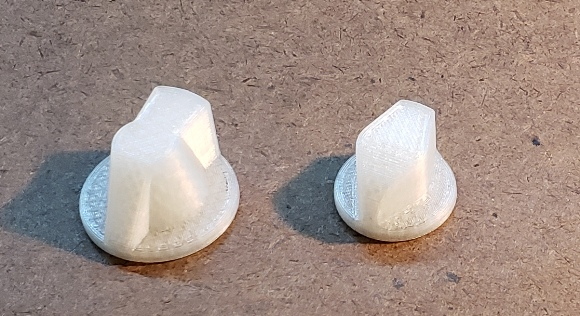 3D printed A/C control knobs